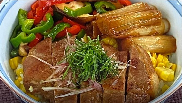 カラフルガッツリ豚丼